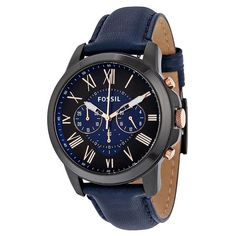 Grant Chronograph Black and Blue Dial Men's Quartz Watch