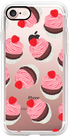 Casetify iPhone 7 Classic Grip Case - Rasberry Cupcakes by Olga Komasinska #Casetify