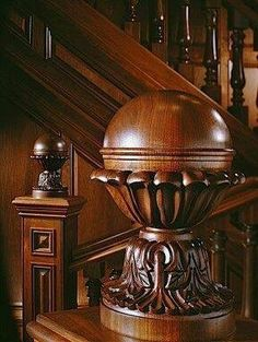 Victorian Interiors, Victorian Homes, Grand Staircase, Staircase Design, Balustrades, Wooden Stairs, Wooden Staircases, Wood Creations, Wood Sculpture