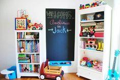 Chalk Paint something similar next to office desk