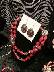 From the Spring 2013 line of Premier Designs Jewelry Collection! Salsa necklace and the Red Spice earrings