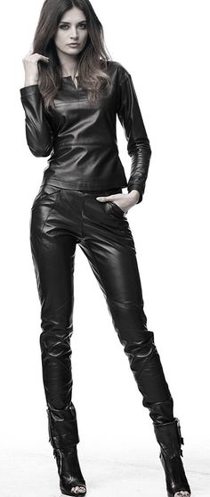 MOJRY BLACK LEATHER