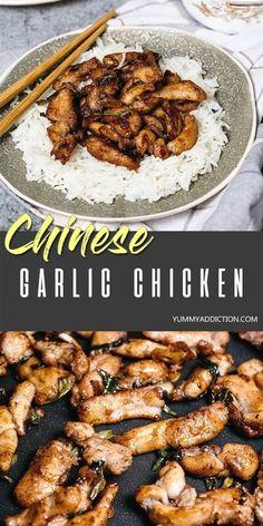 Chinese Garlic Chicken, Korean Chicken, Korean Beef, Fried Chicken, Chicken Bites, Garlic Chicken Recipes, Butter Chicken, Healthy Garlic Chicken, Garlic Chicken Stir Fry