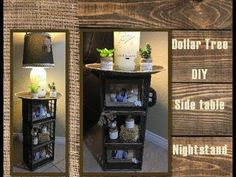 Dollar Tree DIY Side Table Night Stand - YouTube