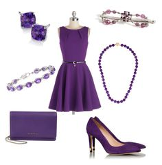 """""""Stunning in Purple"""" by hannahskelly ❤ liked on Polyvore featuring Closet, Blue Nile, Tory Burch, INC International Concepts, Givenchy and LillaRose"""