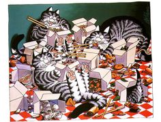 Cats, made by B. Kliban | Flickr - Photo Sharing!