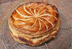 The baked Galette, with an apple filling added to the frangipane. Yum!