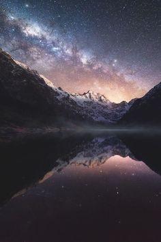 "lsleofskye: ""Marian Lake, Fiordlands, New Zealand | dylangehlken_photography """