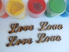 Love Word Love Phrase Embellishment Scrapbooking by BadooCrafts