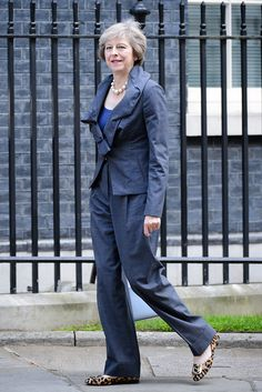 Theresa May attends a cabinet meeting at number 10 Downing Street.