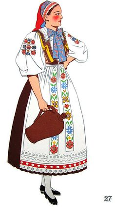 I want an embroidered wedding dress! - A Young Woman, Bratislava, Slovakia Costumes Around The World, Folk Festival, Folk Embroidery, Ballet Costumes, Folk Costume, Historical Costume, Ethnic Fashion, Fashion Sketches, Traditional Outfits