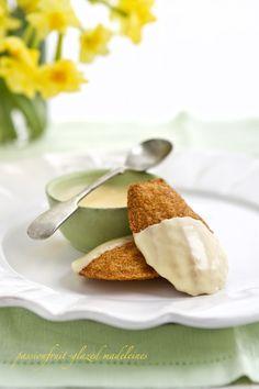 passionfruit glazed madeleines