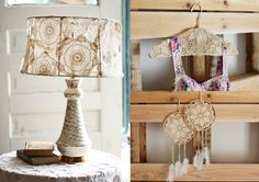 """17 Craft Ideas With Handmade Lace via """"Shed to hand"""" Collectables vintage - retro & antique wares"""
