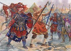 Varangians overcome Pechenegs at Eski Zagra, 1122