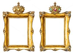 Golden picture frames by LiliGraphie on Creative Market
