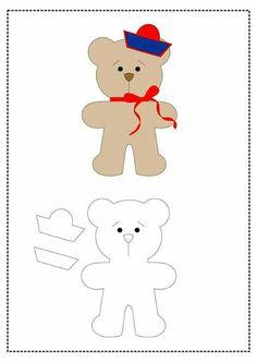 ef07c3bb07d191 23 melhores imagens de moldes ursos | Artesanato de feltro, Bonecos ...