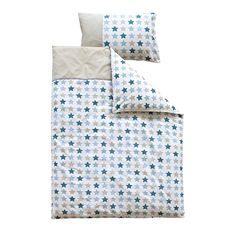 Bettwäsche Mixed Stars mint  - Maße: 135 x 200 cm und 80 x 80 cm - Material: 100 % Baumwolle - Maschinenwaschbar bis 30° C