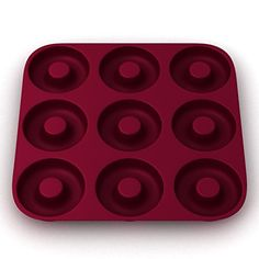 """""""Finally, a Durable and Flexible Commercial Grade Silicone Donut Pan that Creates Iconic Spherical Donuts!"""" Looking for a Nonstick Silicone Donut Mold that's Ultra-Heat Resistant & Produces Beautiful Spherical Donuts?  Well get ready to say """"NO""""! No to NO MORE ugly... - http://kitchen-dining.bestselleroutlet.net/product-review-for-large-ultra-premium-donut-pan-eco-friendly-bpa-free-super-thick-9-cavity-silicone-donut-bagel-pan-non-stick-heavy-dut"""