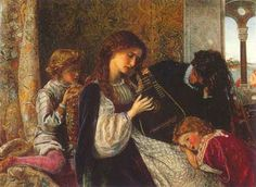 A music party 1861-64 - Arthur Hughes (1832-1915), English