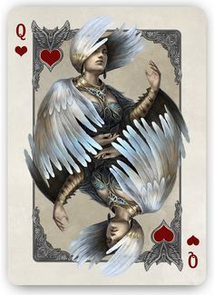 Bicycle_Kingdoms_of_a_New_World_Playing_Cards_Queen_of_Hearts