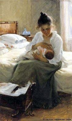 Elin Kleopatra Danielson-Gambogi (Finnish painter, 1861-1919) Äiti, 1893.