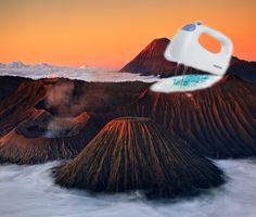 пена в вулкане