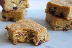 cranberry white chocolate blondies | http://sepcooks.com/cranberry-white-chocolate-blondies/