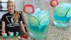 Sexy Monica - Tipsy Bartender -Lime, Citrus Vodka, Sweet and Sour, Blue Curacao and Sprite YUM