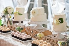 Cake and cupcakes by: The Couture Cakery Photo by: Sweetwater Portraits