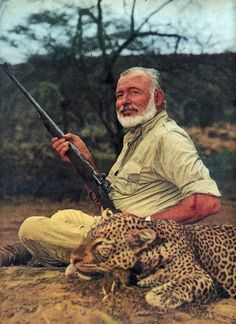 ernest hemingway...strikingly similar to the most interesting man in the world. Coincidence? I think not.