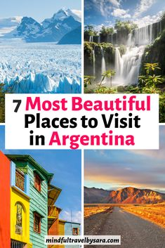 Are you planning a trip to Argentina? Here you have the best places to visit in Argentina for a trip of a lifetime! There are lots of cool things to do in Argentina, from Buenos Aires, Iguazu Falls, Bariloche, Mendoza, the Wine Country, the Andean altiplano to the icy lakes of Patagonia and Perito Moreno. Argentina Travel| Argentina Mendoza | Argentina Travel Tips | Argentina Destinations | Argentina Patagonia | Argentina Itinerary | Argentina Ushuaia #Argentina #ArgentinaTravel… South America Destinations, Argentina Destinations, South America Travel, Beautiful Places To Visit, Cool Places To Visit, Places To Travel, Places To Go, Machu Picchu, Visit Argentina