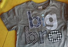 Youth Sizes Big Brother Shirt, Big Bro, Sibling Shirts, Big Little Shirts, Big Brother T-Shirt, Big Bro T-Shirt. $36.50, via Etsy.