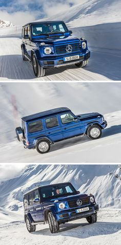 Making its way to the top: The new Mercedes-Benz G 350 d. [G 350 d Mercedes Benz G Class, Mercedes Benz Models, Mercedes Maybach, New Mercedes, Luxury Suv, G Wagon, Custom Cars, Cool Cars, Dream Cars