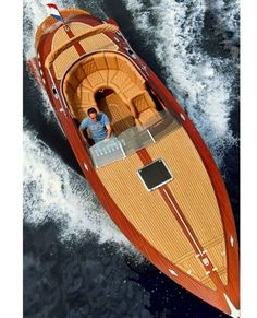 Classic wooden boat style