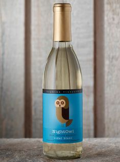 Night Owl 2012 Vidal blanc. . Bottled | Hopkins Vineyard...love the owl.. best dessert wine ever...