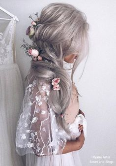 Ulyana Aster Long Wedding Hairstyles and Updo . Wedding Hairstyles For Women, Wedding Hairstyles For Long Hair, Prom Hairstyles, Bridesmaid Hairstyles, Trendy Hairstyles, Hairstyle Ideas, Short Hair, Romantic Bridal Updos, Pelo Multicolor