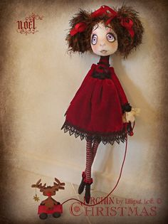 'Noel' Urchin art doll by Vicki @ Lilliput Loft