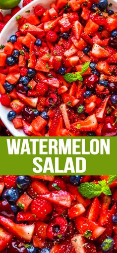 Super refreshing watermelon salad recipe to enjoy on a hot summer day with a delicious fruit salad dressing! Super refreshing watermelon salad recipe to enjoy on a hot summer day with a delicious fruit salad dressing! Healthy Fruits, Healthy Salads, Healthy Eating, Healthy Recipes, Easy Recipes, Soup And Salad, Pasta Salad, Chicken Salad, Shrimp Salad