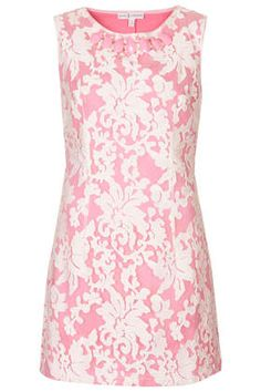 **Pink Jacquard Print Jewel Dress by Rare - Clothing Brands  - Clothing