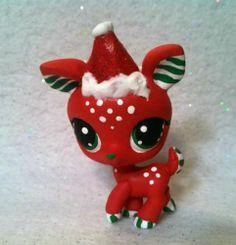 Christmas-Joy-Deer-OOAK-Hand-Painted-Custom-Littlest-Pet-Shop
