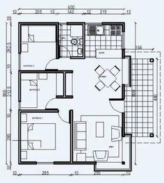 Planos de viviendas prefabricadas de 3 dormitorios
