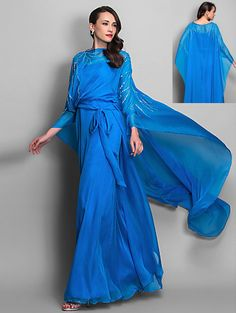 Fashion, Elegant, Stylish Lady,  Glamorous, Luxury, Movie Star, Sheath/Column, Scoop, Spaghetti Straps, Ocean Blue Chiffon Evening, Cocktail, Wedding, Gown, Dress --- $295 --- Size: 2-4-6-8-10-12-14-16 --- Included Shipping within United States  --- Paypal Payment --- Send a note for more details --- Style 019