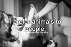 Nobody understands how true this is for me lol. why i will be a vet, to spend more time with animals than humans