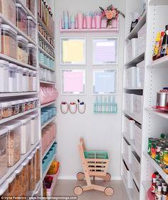 pastel-hued pantry