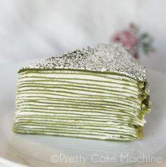 Recipe: 21-Layer Matcha Mille Crêpe.   Pretty Cake Machine