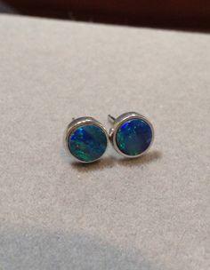 Hypoallergenic Australian Opal Earrings   Black Opal by OpalEmbers, $189.00