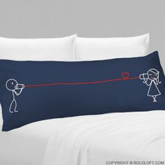 """This Valentine's Day, say I Love You with BoldLoft his and hers couples gifts. BoldLoft """"Say I Love You"""" Body Pillowcase in dark blue. Perfect Valentine's gifts for any couples in love. #couplesgift #valentinesdaygifts"""