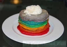Rainbow pancakes - great for St. Patrick's Day but not only