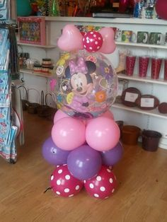 "Minnie Bow-Tique Balloon Décor!  By: Celebrations Party Store in Abilene, KS. Call us to place your order! 785-263-3247 Be sure to ""LIKE"" our facebook page at https://www.facebook.com/celebrationspartystore"