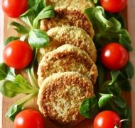 Cauliflower and Chickpea Patties with Chia Seeds recipe
